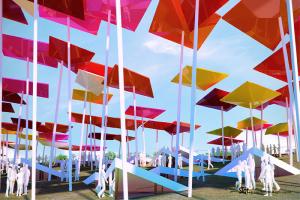 上海世博会墨西哥馆伞形高光现代质感铝板