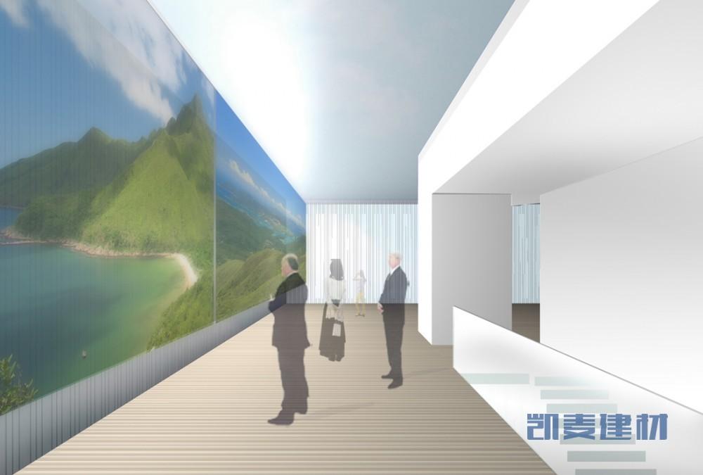 上海世博会香港馆--整体彩绘墙面铝板