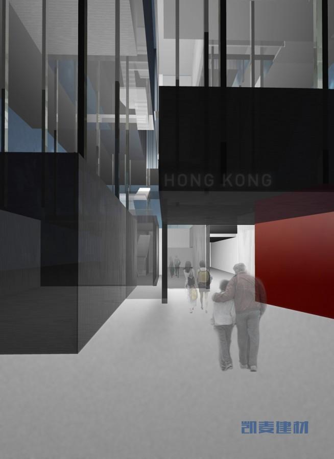 上海世博会香港馆--未来建筑多层分体结构+铝材金属装饰面板