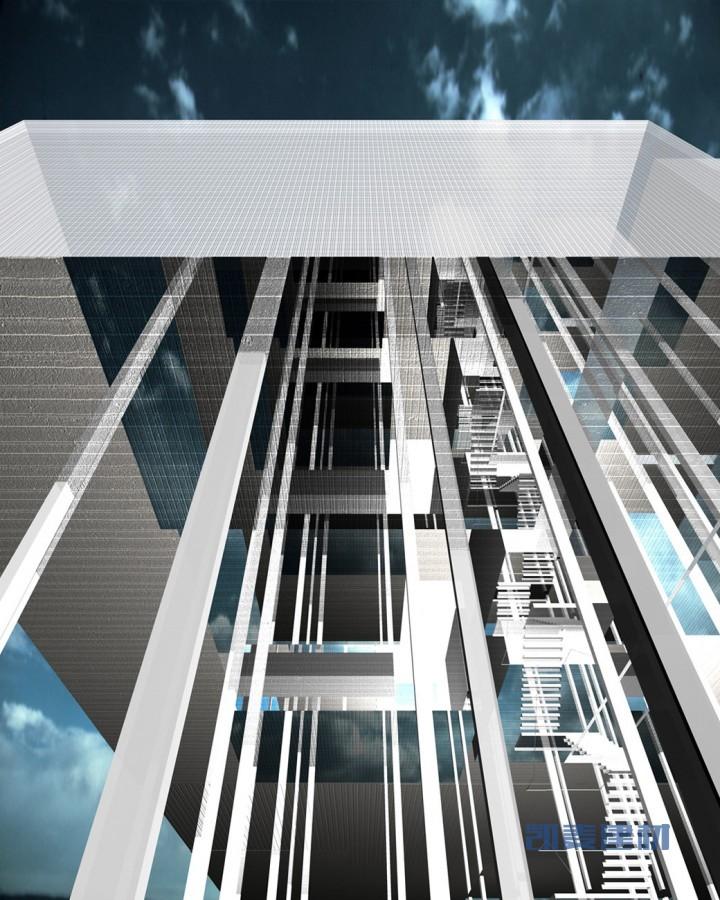 上海世博会香港馆--多彩质感铝板吊顶