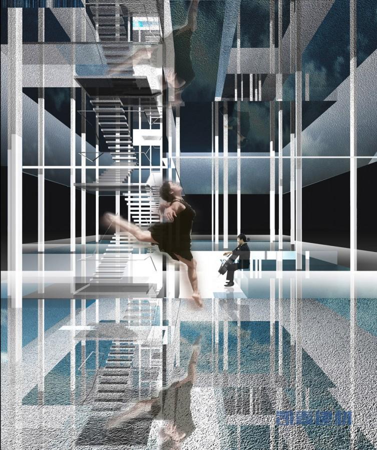 上海世博会香港馆--玻璃幕墙+铝型材 构造简明质感装饰