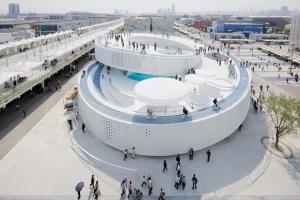 上海世博会丹麦馆--旋转铝单板楼梯