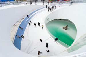 上海世博会丹麦馆--铝金属穹顶