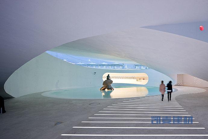 上海世博会丹麦馆--一体建筑