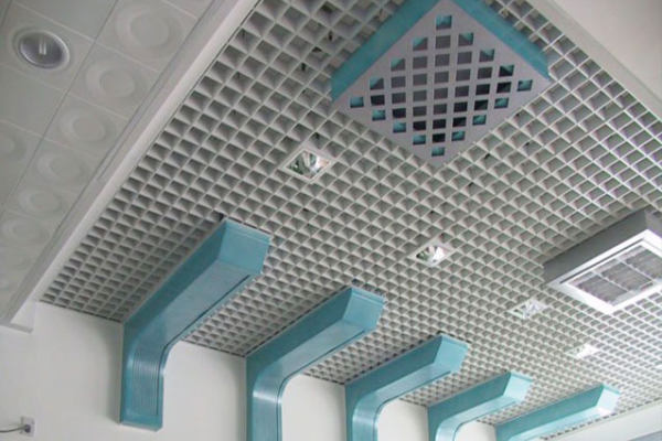 高铁站候车区吊顶铝格栅