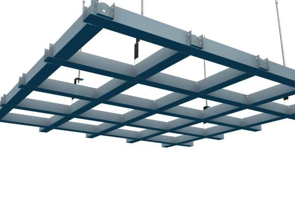 宽底槽型铝格栅