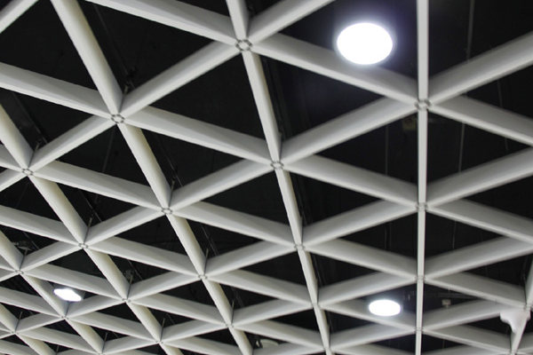地铁站三角形/六边形铝格栅