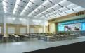 报告厅安装波浪形冲孔铝板