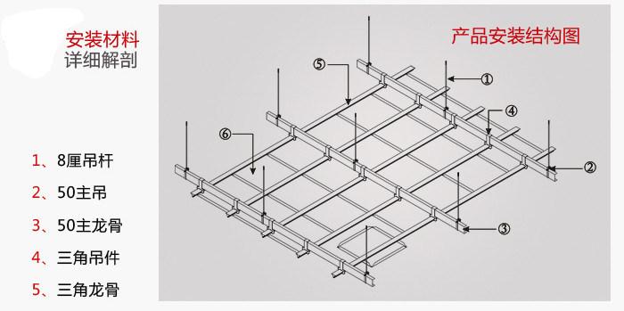 铝扣板安装节点