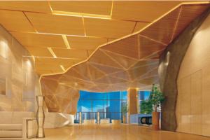 室内金字塔造型木纹超高档造型吊顶