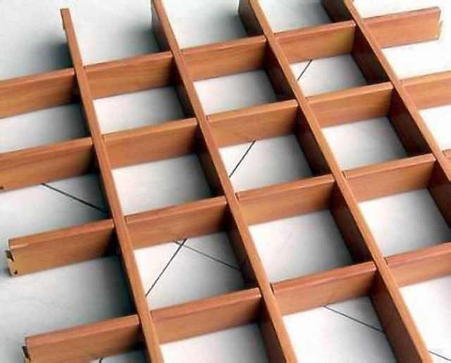 木纹方格子型铝格栅