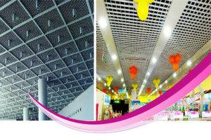 商场、酒店大堂安装铝格栅吊顶