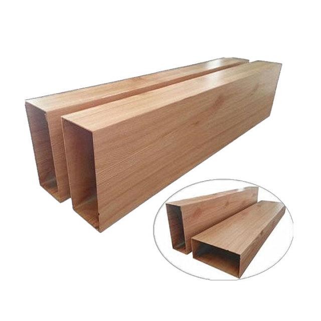 仿木纹铝方管型材