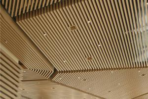 150*50木纹铝方通吊顶