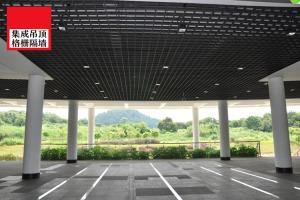 大楼底层停车场吊顶铝格栅