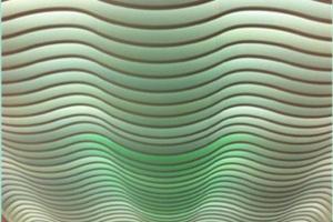 半透光波浪造型铝方通吊顶