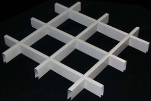 白色方形铝格栅45*10规格