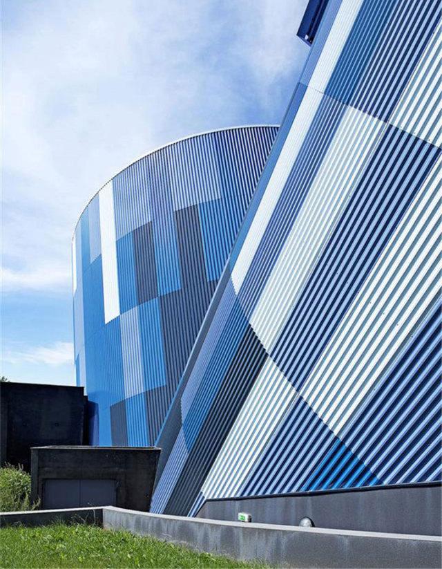 多种颜色渐变外墙长城铝板