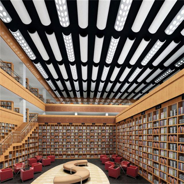 图书馆特色造型半圆形铝单板灯槽