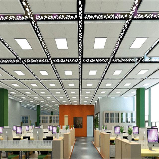 写字楼办公室安装多孔铝单板灯槽