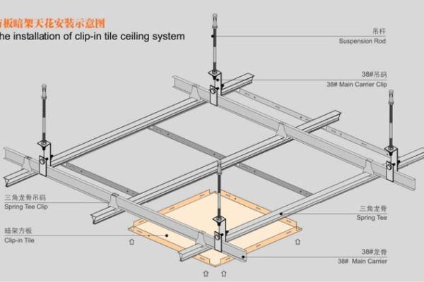暗架铝扣板安装方式