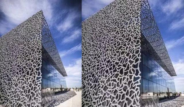 不规则藤形外墙铝单板