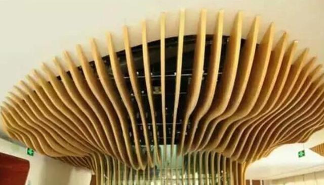 树藤形缠绕大厅天井造型铝方通