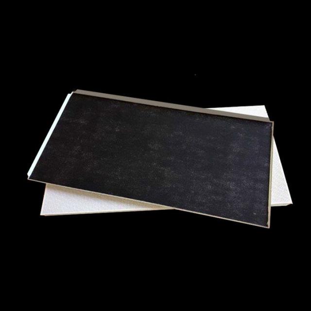 600*1200冲孔铝扣板背贴黑色无纺布
