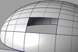 双曲铝单板CAD电脑三维模型