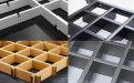 白色、黑色、灰色、木纹色铝格栅