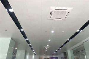 移动营业厅安装白色铝单板吊顶