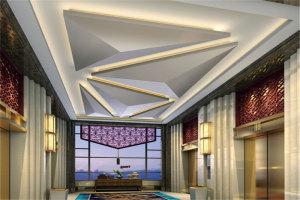 三角锥形三维造型铝单板吊顶