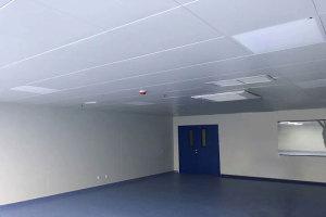 600*1200平面铝扣板安装在房间