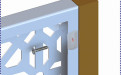 用自攻螺丝将铝板打穿折边锁定在金属边框上