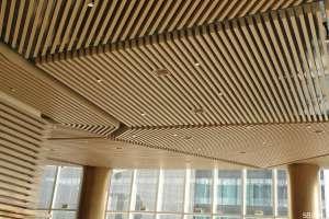 竹纹铝方通吊顶