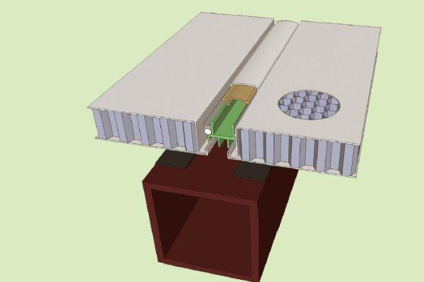 金属缝铝蜂窝板幕墙安装示意