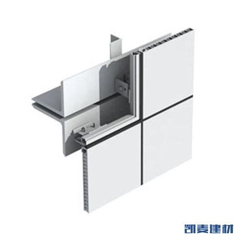 明胶缝铝蜂窝幕墙系统