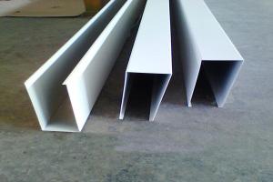 白色喷粉U型铝方通规格150*40