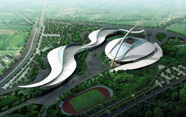 鄂尔多斯东胜体育场外墙铝单板