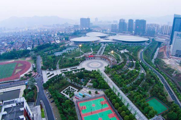 福建沙县体育公园鸟瞰图