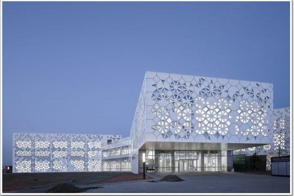 南开大学学生活动中心外墙雕刻铝单板幕墙