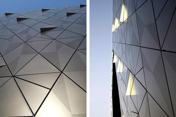 三角形冲孔排列铝单板