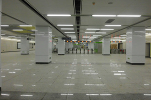 地铁包柱烤瓷铝单板