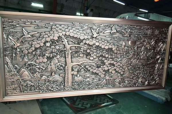 牡丹花造型超厚镂空铝单板