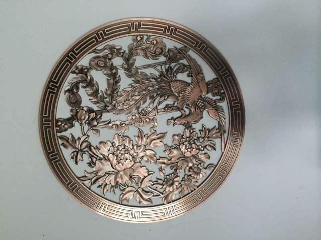 凤凰造型3D浮雕铝板工艺品