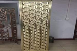 金色浮雕铝单板屏风