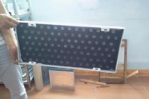 冲孔铝单板背贴无纺布