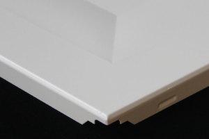 井型跌级铝板角位细节