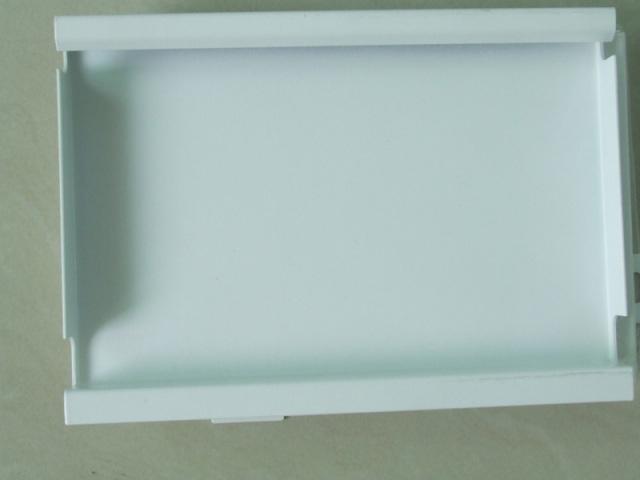 白色勾搭铝单板背面