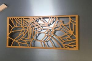 激光雕刻铝板屏风
